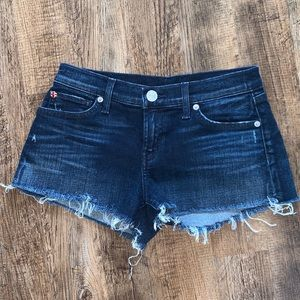 Hudson cut off denim jean shorts 24